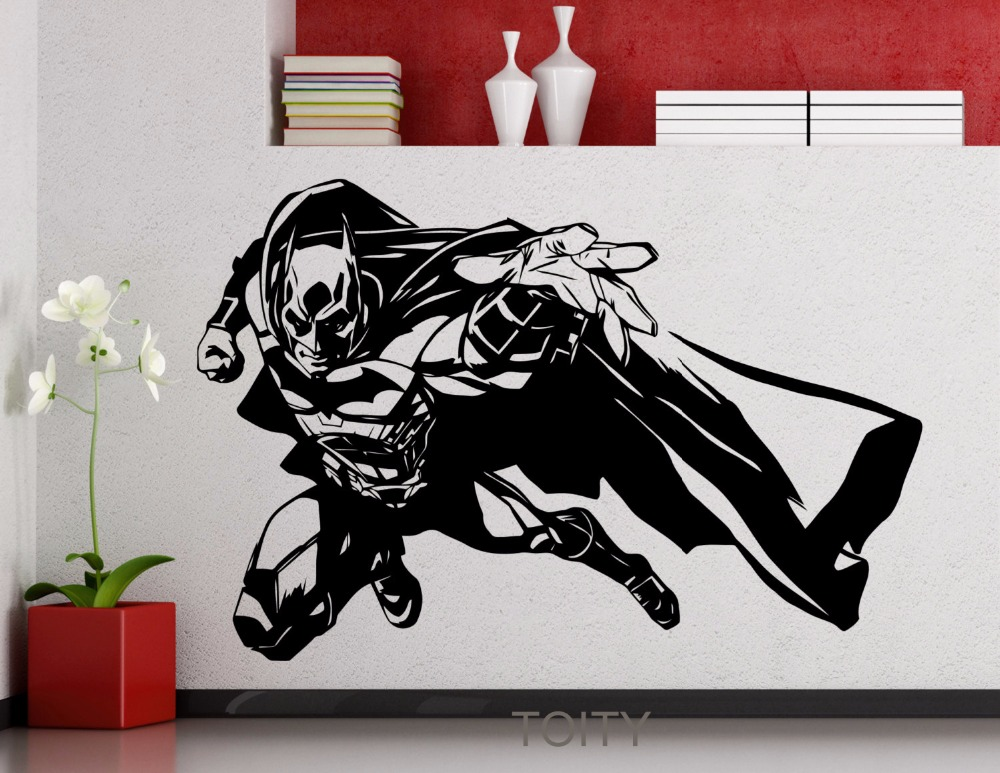 Batman Wall Vinyl Sticker Movie Poster DC Marvel Comics Superhero Removable  Decal Dorm Teen Club Home Interior Decoration Mural In Wall Stickers From  Home ...