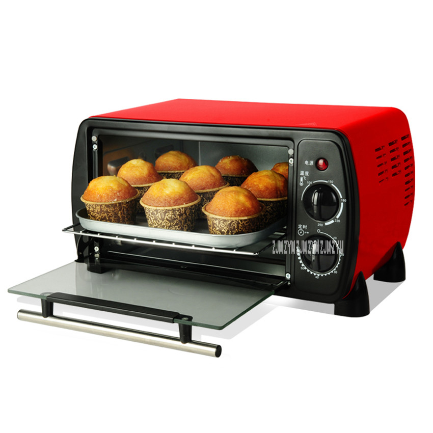 B509B Home Electric Mini Bakery Oven with timer for making bread, pizza 12L small household Multi-function cake baking oven  3000w stainless steel commercial electric pizza oven with timer 2 layer making bread pizza cake baking oven