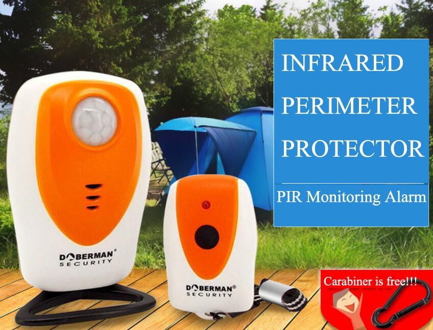 imágenes para Al aire libre de infrarrojos de inducción de alarma Doberman Seguridad SE-0305 acampar autodefensa anti animal de alarma Remota