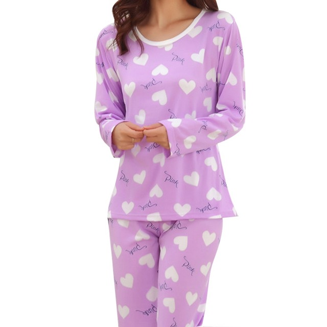 С длинным рукавом осень тонкий рубашка леди прекрасный шелк молока женщина осень пижамы случайные удобные женские пижамы установить оптовая