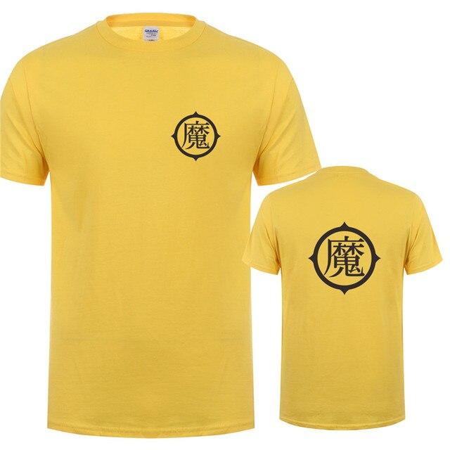 Piccolo T Shirts Dragon Ball Son Gohan T Shirt Men New Fashion Cotton Short Sleeve O-neck Piccolo Logo T-shirt Tops OT-307