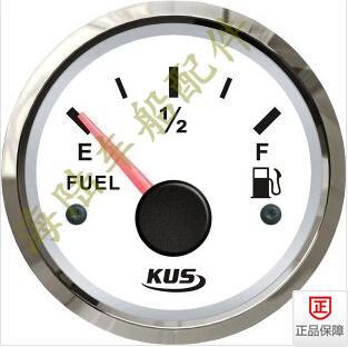 KUS oil level gauge, fuel meter, automobile, truck, motor boat, boat with luminous lamp, 12/24V kus boat rudder angle indicator gauge 12v 24v with marine rudder sensor 0 190ohms 52mm black
