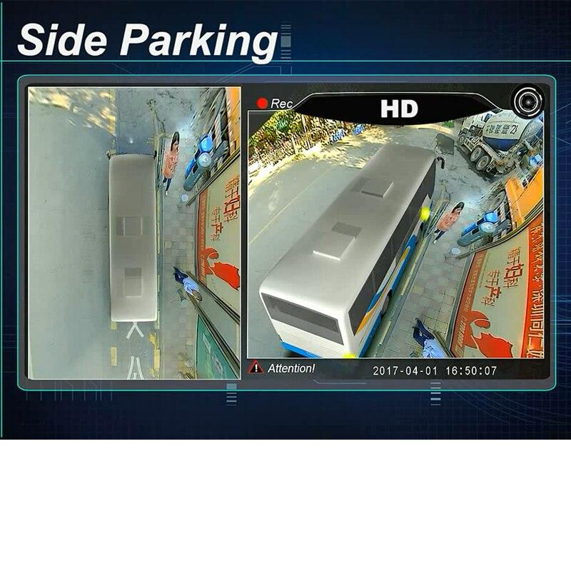 3D HD Surround la Surveillance de la Vue Système 360 Degrés Conduite Panorama parc Vue D'oiseau pour Camion/Bus 4 Métal Caméras 4-CH DVR enregistreur