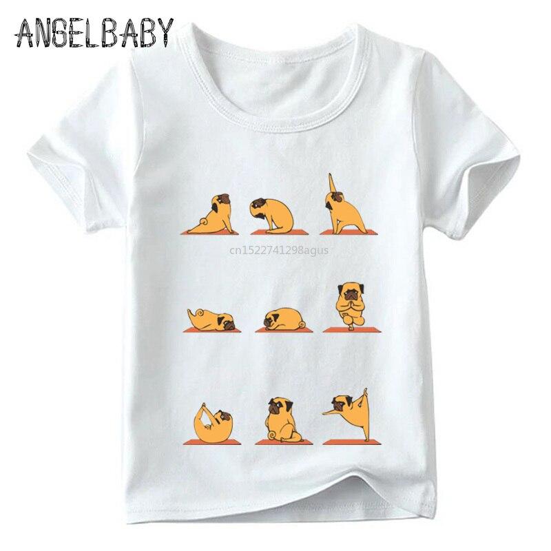 2018 Kinder Katze/soth/kaninchen/mops/englisch Bulldog T-shirt Sommer Baby Jungen/mädchen Kurzarm Tops Kinder Weiche T-shirt, Hkp2155