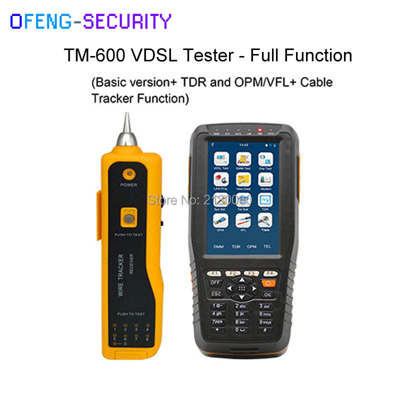 TM-600 VDSL VDSL2 Tester ADSL With Full Function (Basic Version+ TDR+ Tone Tracker+ OPM/VFL Function)