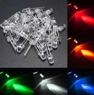 Transparent 5 MM LED Diode Light Round Assorted Kit Ultra Bright Water Clear Set Light Emitting Diode Pack Green Red Blue Orange