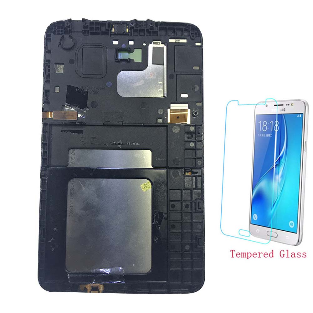 Tablet LCD Display Touch Screen Sensor Panel Digitizer Assembly Frame For Samsung Galaxy Tab 3 Lite 7.0 T110 T111 T113 T114 T116