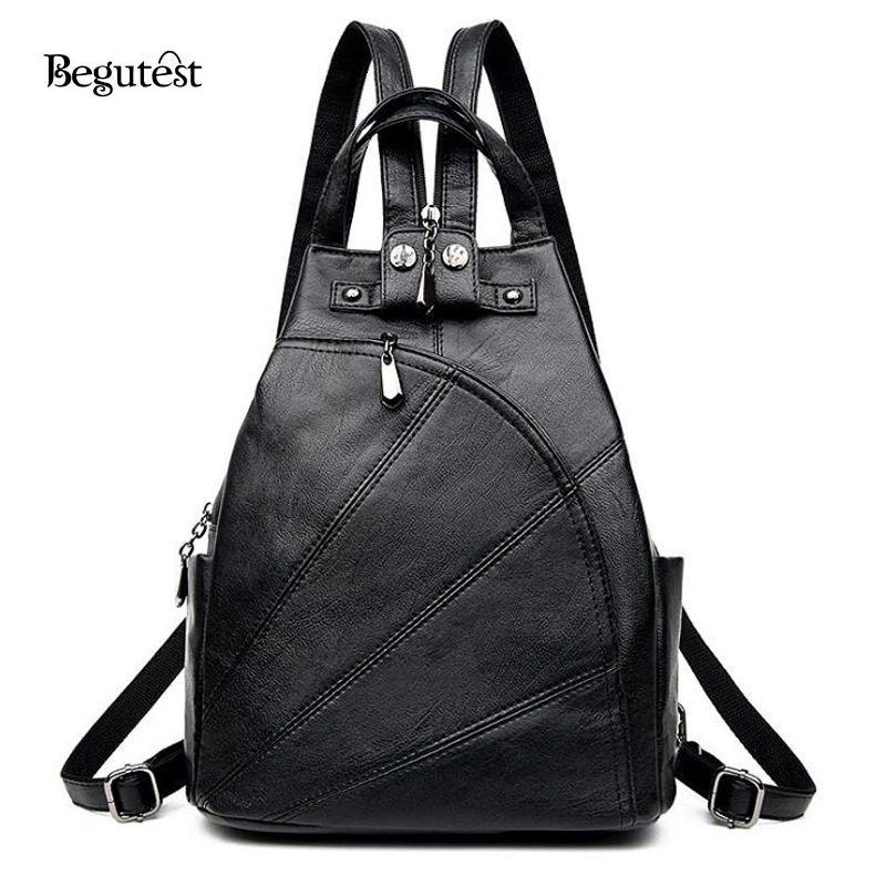 Korean fashion anti theft women backpack high quality pu leather feminine backpacks fashion Korean style fashion girl bag