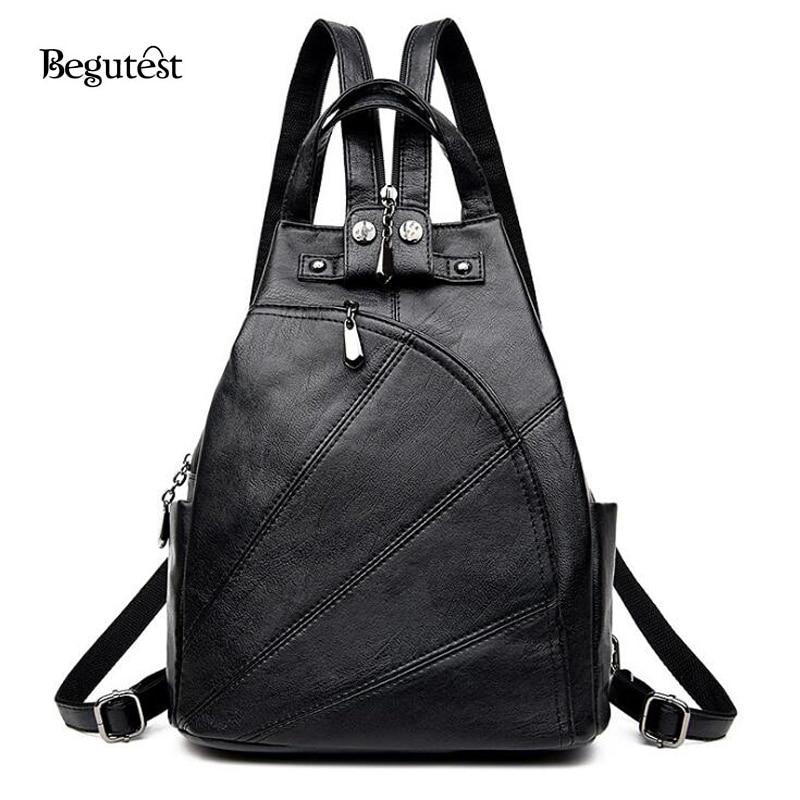 Korean Fashion Anti Theft Women Backpack High Quality PU Leather Feminine Backpacks Fashion School Bags For