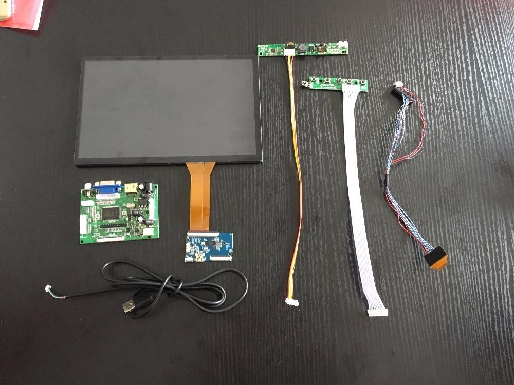 10.1 Polegada 1280*800 Tela De Toque Capacitivo Ips Módulo Lcd Monitor De Exibição De Apoio Carro Hdmi Usb Vga 2av Raspberry Pi 3 Remoto