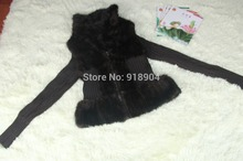 New Knitted real genuine natural knit mink fur coat women winter knitted fur jacket waistcoats customized