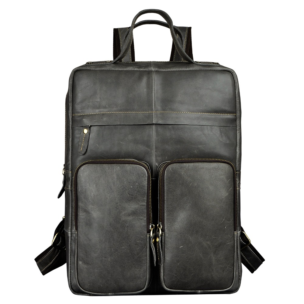 New Design Male Real Leather Casual Fashion Large Capacity Travel Bag School Bag Backpack Daypack For Men 2107g men original leather fashion travel university college school book bag designer male backpack daypack student laptop bag 9950