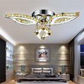 Fashion led crystal flower shape ceiling lights luminaria teto cristal ceiling lamps foyer home decoration