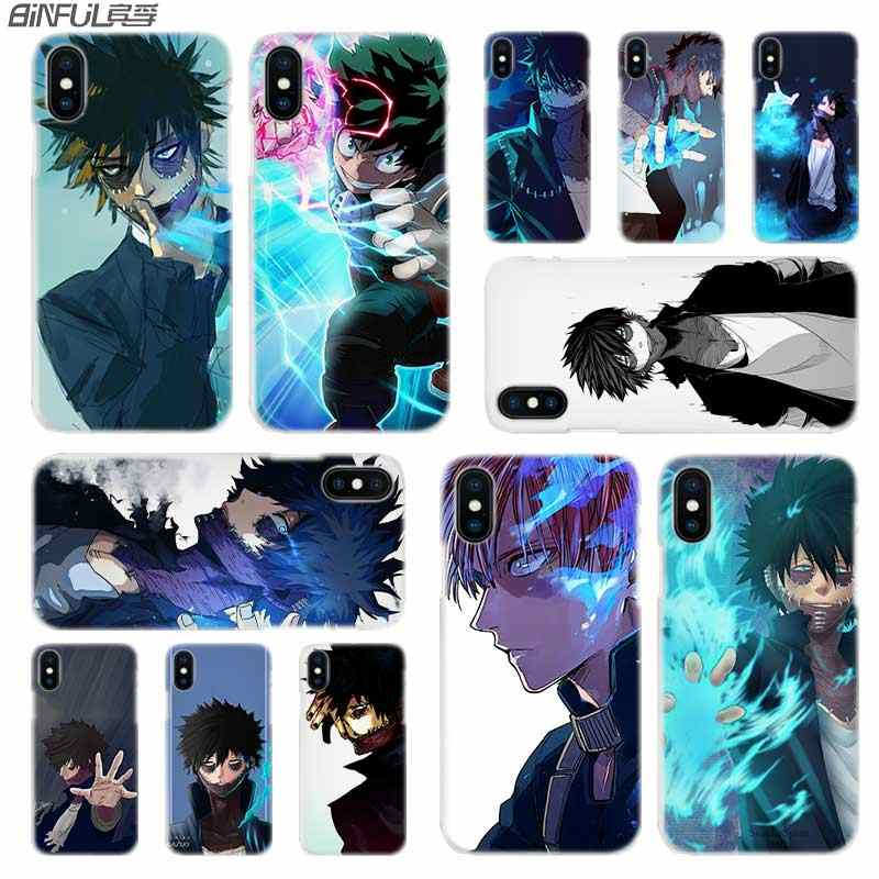 BINFUL iphone case cover transparent for iPhone X XR XS Max 8 7 6s 6 Plus 5 5s XI R 2019 4s Anime My Hero Academia