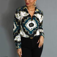 Ladies Mixed Color Tops Trendy Spring Cloth