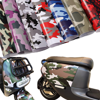 Over 10 Kinds Camo Vinyl Wrap Car Motorcycle Decal Mirror Phone Laptop DIY Styling Camouflage Sticker Film Sheet image