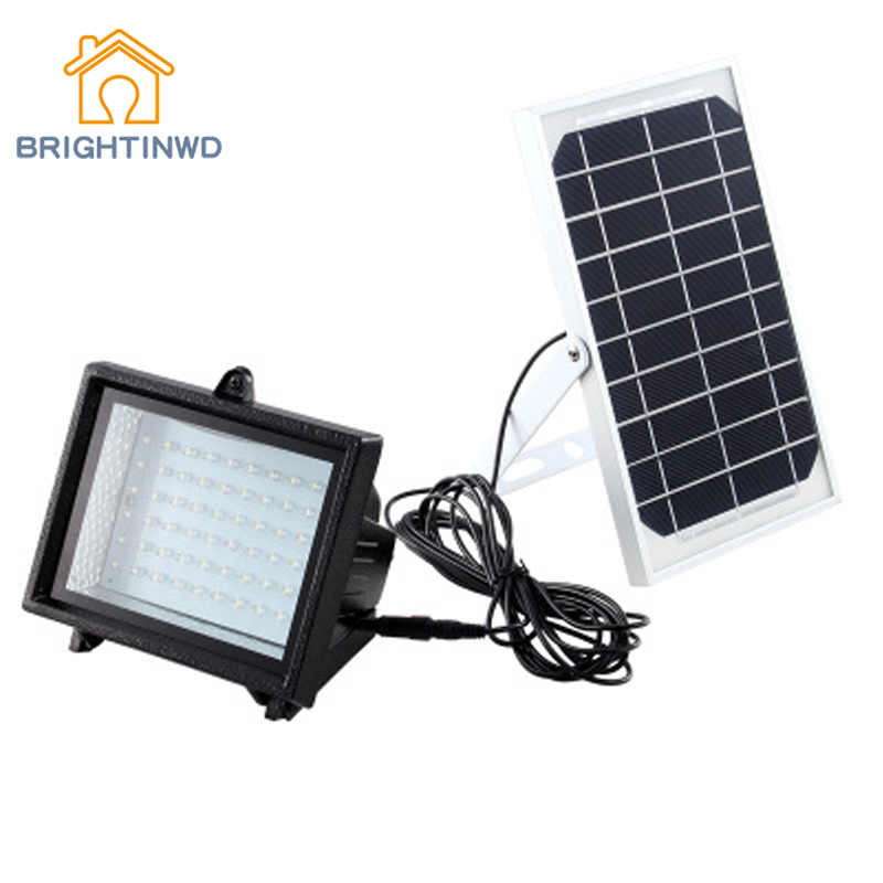 Polycrystalline Solar Floodlight 60LED 6V/5W Outdoor Emergency Waterproof Courtyard Spotlight Garden Light Wall Lamp IP54 ground lamp 50w l2 rechargeable led floodlight spotlight handle emergency flashlight mobile outdoor camping light hiking lamp