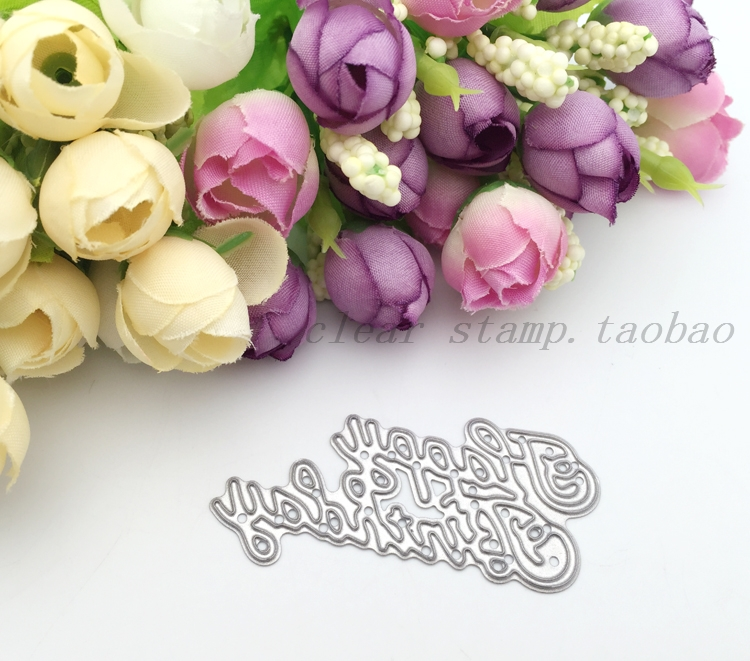 y68 metal cutting dies happy birthday letter scrapbook card invitation paper craft party decor embossing stencil cutter