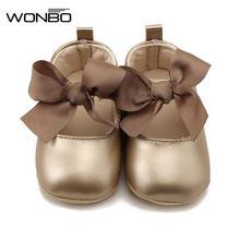 Wonbo/мягкая обувь принцессы из искусственной кожи для маленьких