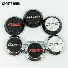 4PCS/lot 64MM Car Styling RAYS VOLK Logo Wheel Center Caps Dust Proof caps for Japan Tokyo  Rim TE37 Time Attack