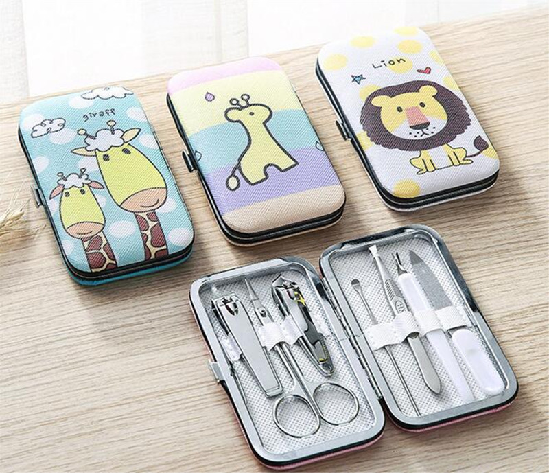 20 Sets Maniküre Set Schöne Cartoon Nagel Clipper Baby Nagel Set Schere 7 Stücke Carbon Stahl Nagel Häutchen Scissor Reichhaltiges Angebot Und Schnelle Lieferung
