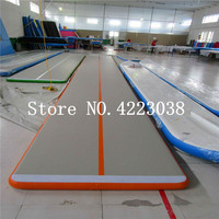 Free Shipping 10*2*0.2m Inflatable air Track Tumbling mat with Pump for Home use Gymnastics Training on Beach/Park/Water