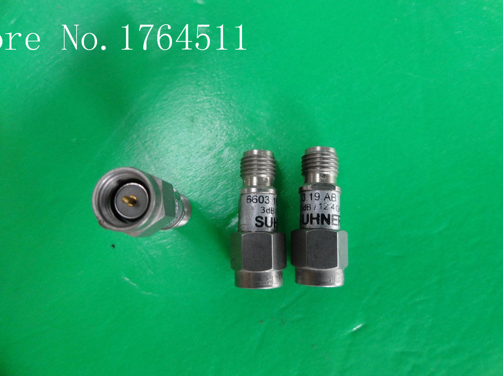 [BELLA] SUHNER 6603.19.AB DC-12.4GHz 3dB 2W SMA Coaxial Fixed Attenuator  --5PCS/LOT