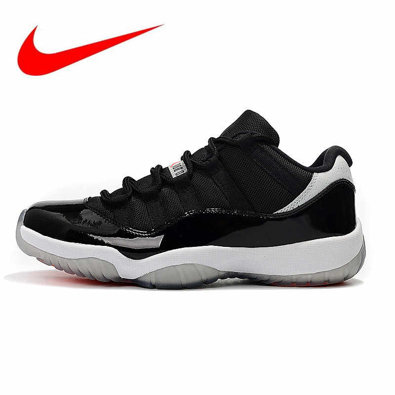 newest 9e091 a0c4a NIKE AIR JORDAN 11 Low Bred Men s Basketball Shoes,Shock Absorbing Non-Slip  Abrasion