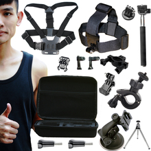A9 For Gopro Accessories Set For Go pro Hero 4 Session 3 Sjcam SJ4000 Xiaomi yi 2 4k Action Camera Eken H9R Gitup 2 With Case