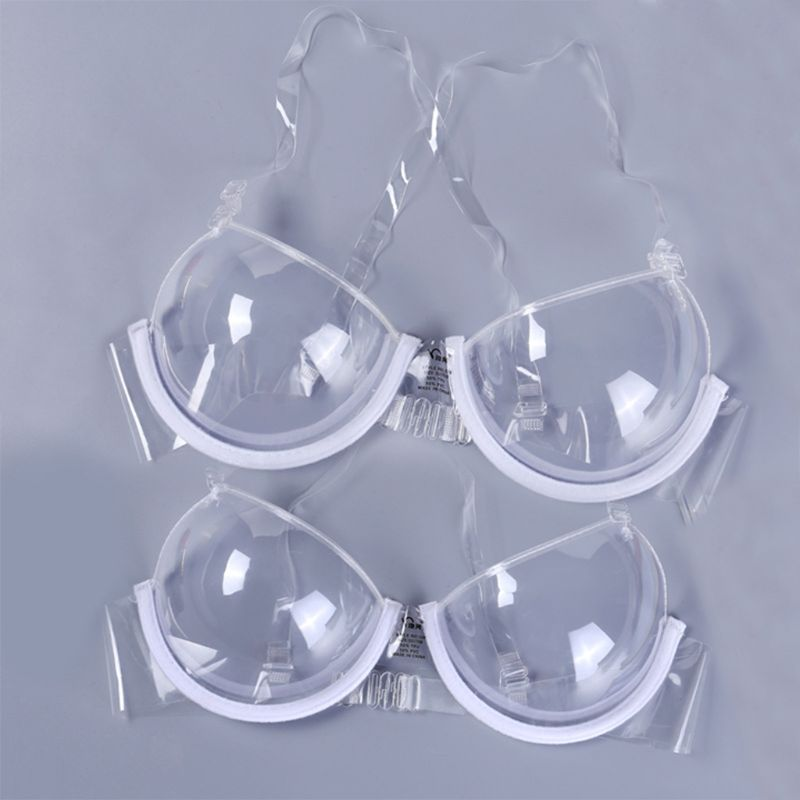 2017 Transparent Clear Push Up Bra Strap Invisible Bras Women Underwire 3/4 Cup