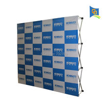 Wholesale price High-quality 7.5ft Exhibition Booth Velcro Fabric Pop Up Display Banner Stand+Printing Banner(Free Shipping)