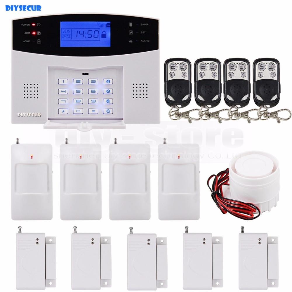 DIYSECUR Wireless Gsm Sms Sim Alarm System 900/1800/1900Mhz Timely Control Arm/disarmDIYSECUR Wireless Gsm Sms Sim Alarm System 900/1800/1900Mhz Timely Control Arm/disarm