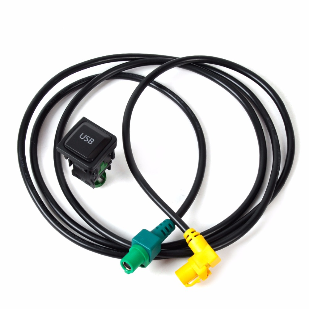 DWCX 5KD035726A <font><b>USB</b></font> Switch Cable For VW Golf Jetta MK5 MK6 <font><b>Passat</b></font> <font><b>B6</b></font> B7 Polo Touran EOS Tiguan CC Beetle image