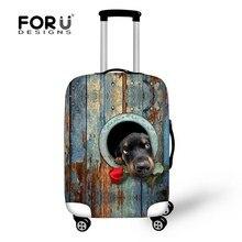 New Trendy 3D chien impression épais bagages Lrotective couverture pour 18 / 20 / 22 / 24 / 26 / 28 / 30 polegada cas élastique bagages sac de voyage de couverture couverture