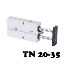 TN20*35 Two-axis double bar cylinder cylinder Standard Pneumatic Component Double Shaft Rod Air Cylinder  cxsm25 40 smc double pole double cylinder air cylinder pneumatic component air tools cxsm series cxs series