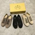 2016 homens Verão Sapatos de Couro Genuíno Flats Deslizar Sobre Sapatos Casuais Homens Sapatos Feitos À Mão Do Vintage