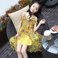 New Bohemian Style Children S Dresses Girl Summer Floral Dress Jumpsuit Girls Personality Dress