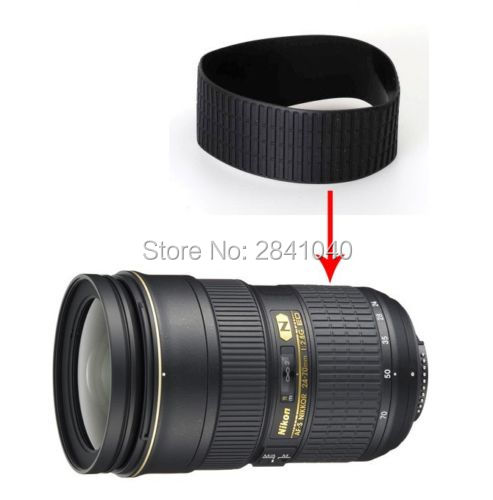 Super Quality NEW Lens Focus Zoom Rubber Ring Rubber Grip Rubber For Nikon AF-S 24-70MM 24-70 MM f/2.8G ED Repair Part