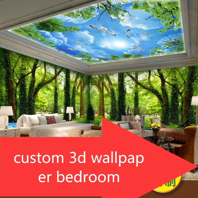 custom Forest Nature photo mural Wallpapers bedroom TV back Guest Room Restaurant Theme Wallpaper 3d for living room big Treescustom Forest Nature photo mural Wallpapers bedroom TV back Guest Room Restaurant Theme Wallpaper 3d for living room big Trees
