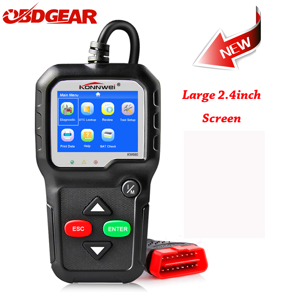 OBD2 Autoscanner ODB 2 KONNWEI KW680S 2018 OBD2 Automotive Scaner with Multi-languages OBD 2 Auto Diagnostic Scanner in Russian