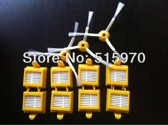 8 Pack Replacement HEPA Filter for iRobot Roomba 700 Series 760 770 780 Vacuum Cleaner HEPA Filter Plus 3 Armed Side Brush