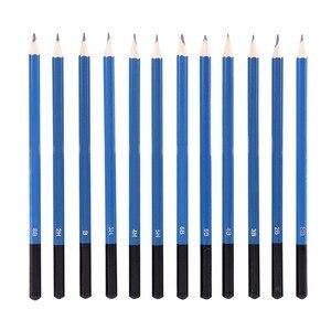 Image 4 - 48 개/몫 전문 스케치 드로잉 연필 키트 캐리 백 아트 페인팅 도구 세트 화가 학생을위한 블랙 아트 용품