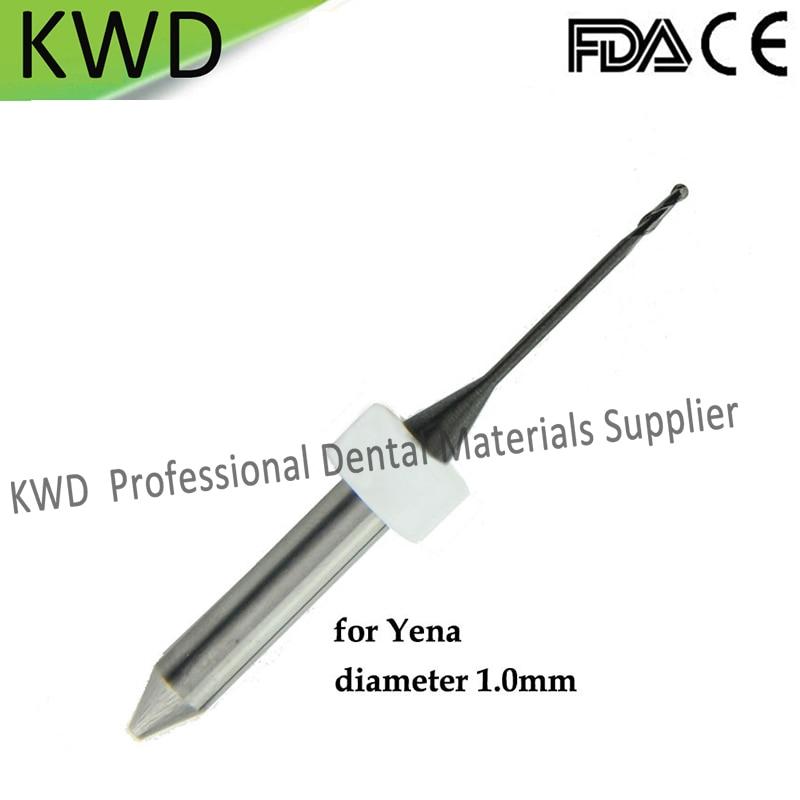 2 Piece CAD CAM Mechine Yena Dental Milling Burs Dental Lab Supplies Material Drills1 0 2