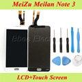 Для MeiZu M3 Meilan Note 3 Note3 M681H ЖК-Дисплей С Сенсорным Экраном Дигитайзер Сборки Оригинальные Запасные Части + Инструменты