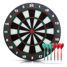 Security Plastic Dart Game Dartboard With 6 Bristle Darts Staple-free Bullseye with Rotating Number Ring Adults Kids Inhouse Toy