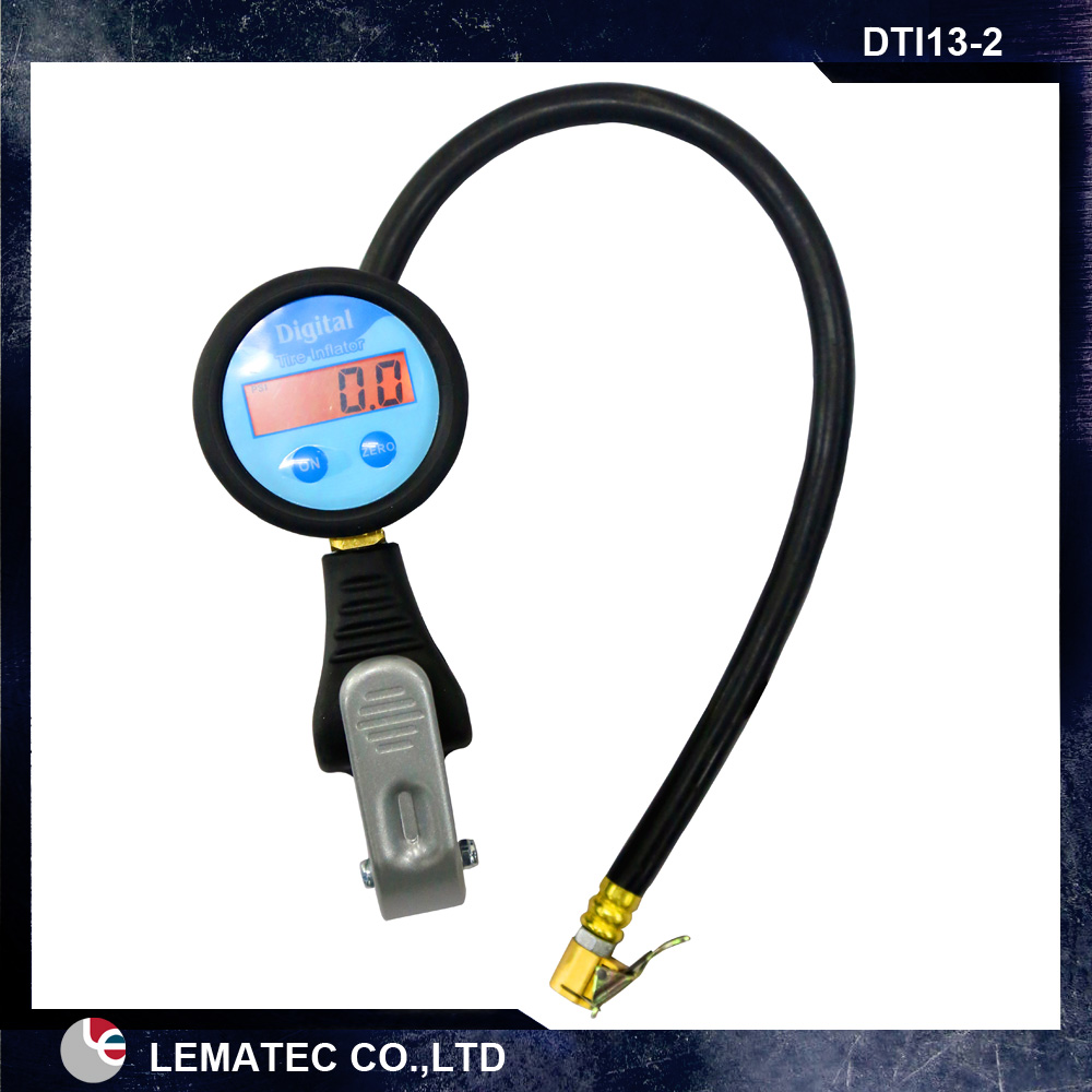 LEMATEC Digital air pressure gauge tire inflator gauge with air clip chuck for tyre inflating gun lematec heavy duty car dual head tire inflator pressure gauge air chuck profession tyre air inflator gun air tools