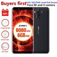 Ulefone Power 3 6 0 18 9 FHD Smartphone 6080mAh RAM 6GB ROM 64GB MT6763 Octa