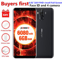 Ulefone Power 3 6.018:9 FHD Smartphone 6080mAh RAM 6GB ROM 64GB MT6763 Octa Core Face ID 21MP Android 7.1 OTG 4G Mobile phone