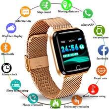 Smartwatch para homens e mulheres, relógio inteligente p/homens e mulheres, monitor de frequência cardíaca, pressão arterial, rastreador de condicionamento físico, à prova d água, para iphone