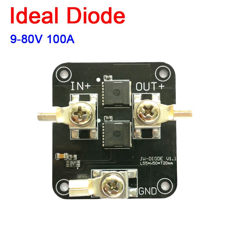 50A Ideal Diode Controller Solar Battery Anti-backflow 9-80V Protection Module